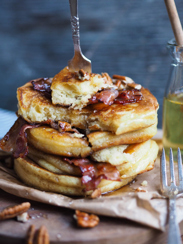 Amerikanske pannekaker med bacon og pecan_P1190041
